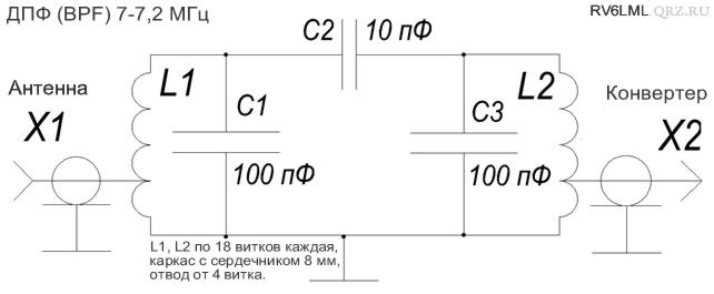 полосовой фильтр 7 МГц