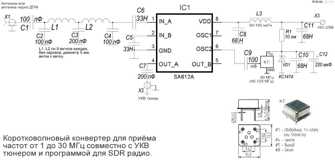 КВ конвертер для УКВ тюнера